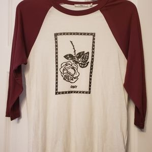 Obey Rose Baseball Top